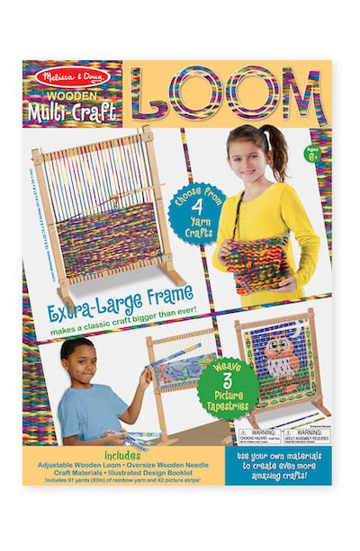 Melissa & Doug Let's Play Wooden Loom & Fleece Blanket Crafting Set