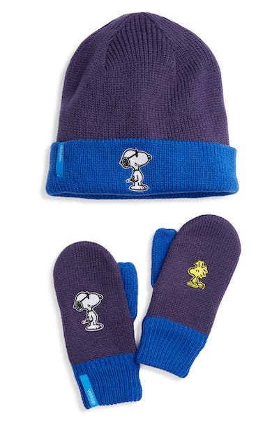 Verloop x Peanuts Reversible Beanie & Gloves Set