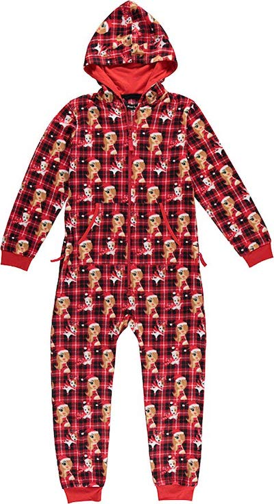 Mariah Carey Kids' Plaid Print Hooded Onesie