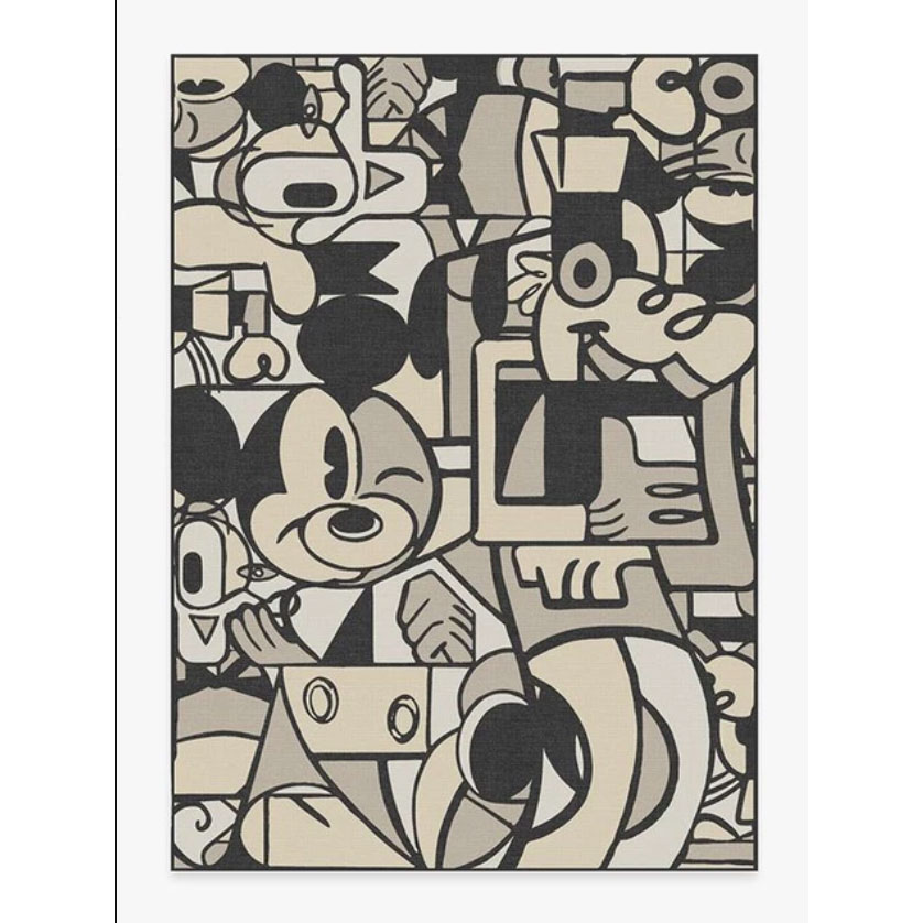 Mickey & Friends Warm Grey Rug