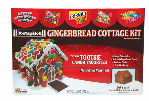 Tootsie Roll Holiday Gingerbread Cottage Kit