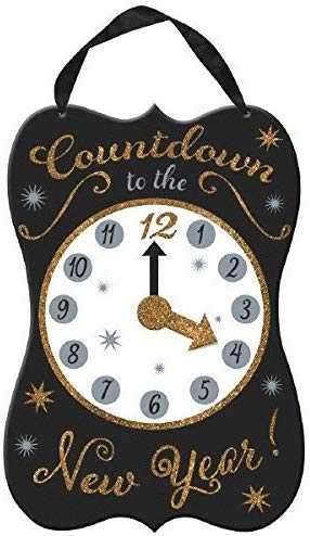 amscan Happy New Year Countdown Clock Hanging Sign
