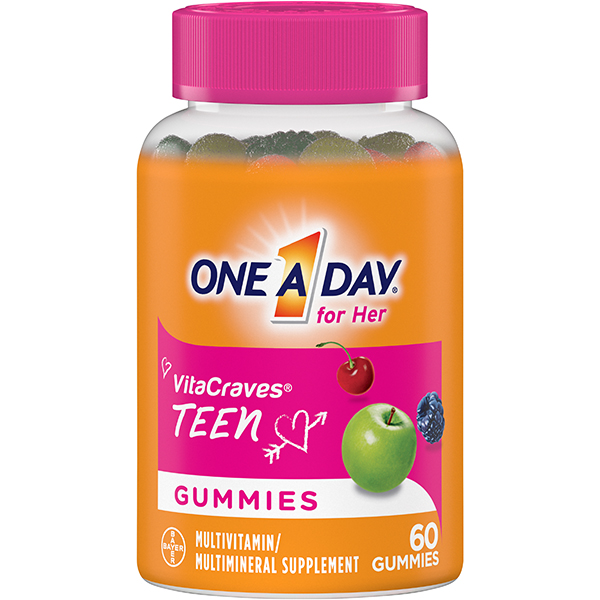 One A Day VitaCraves Teen for Her Multivitamin Gummies