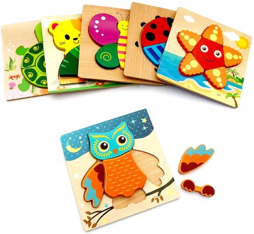 perfrom 6 Pack Wooden Jigsaw Puzzle Set