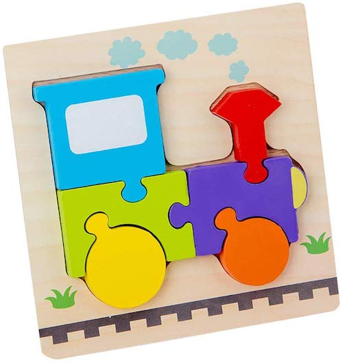 Jesaisque Wooden Animal Puzzles for Toddlers