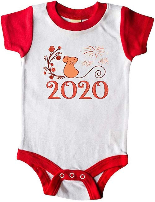 Inktastic Year of the Rat 2020 Infant Creeper