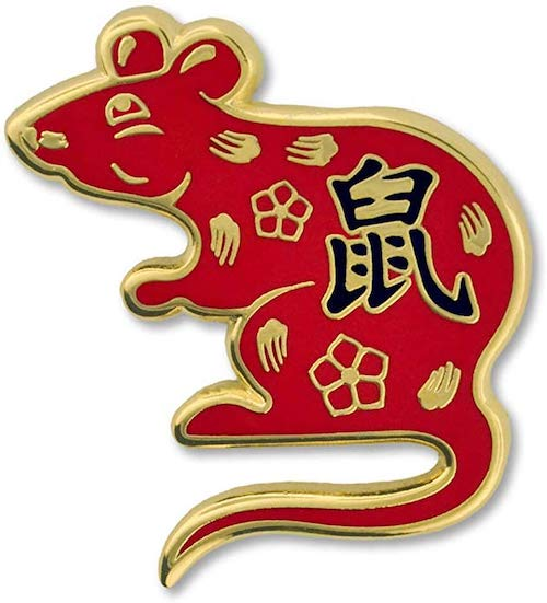 PinMart Chinese Zodiac Year of The Rat New Year Enamel Lapel Pin