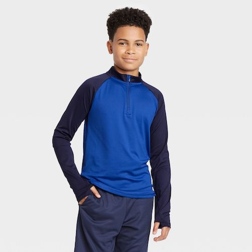 Target All in Motion Boys' Performance 1/4 Zip Pullover