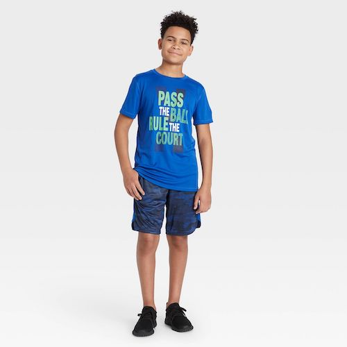 Target All in Motion Boys' Short Sleeve Pass The Ball Rule The Court Graphic T-Shirt