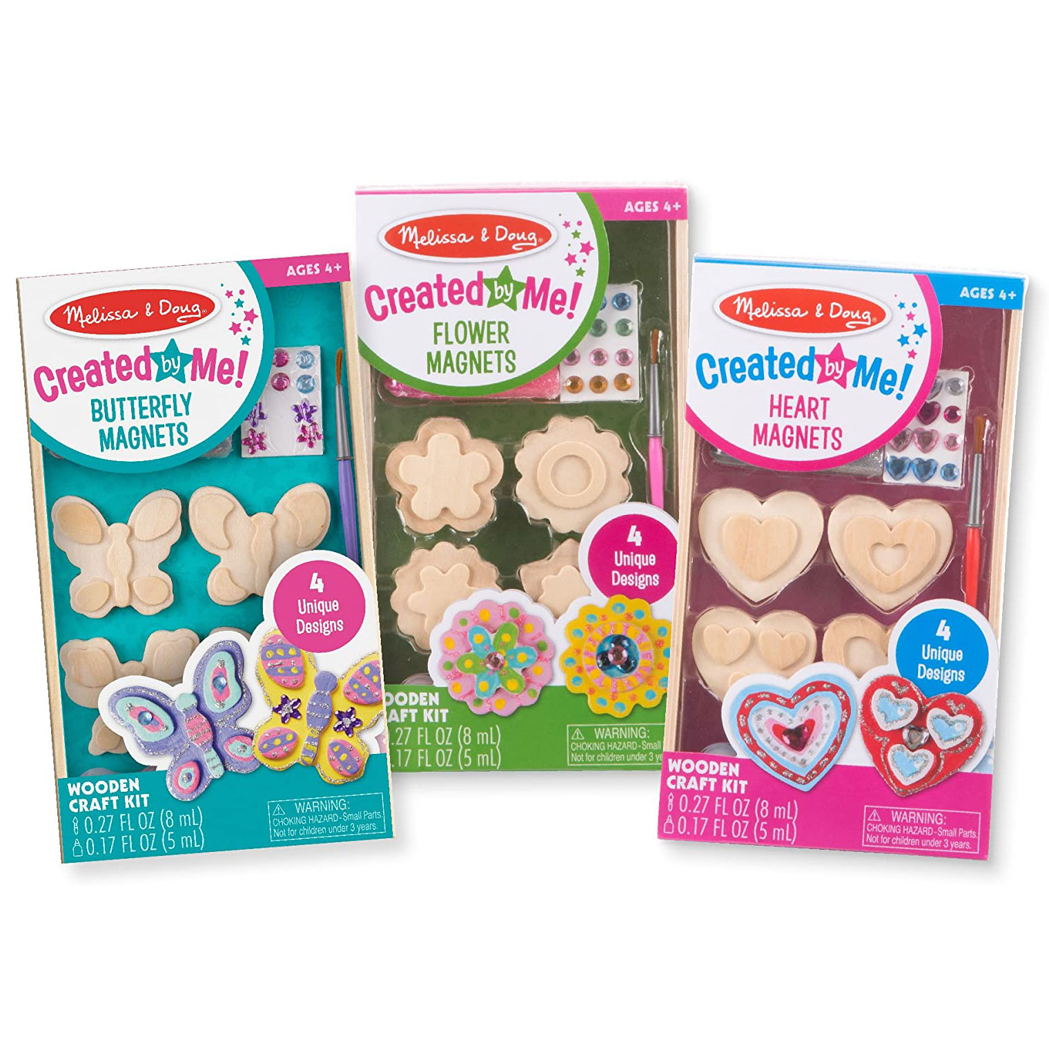 Melissa & Doug Created by Me! Wooden Heart Magnets Craft Kit