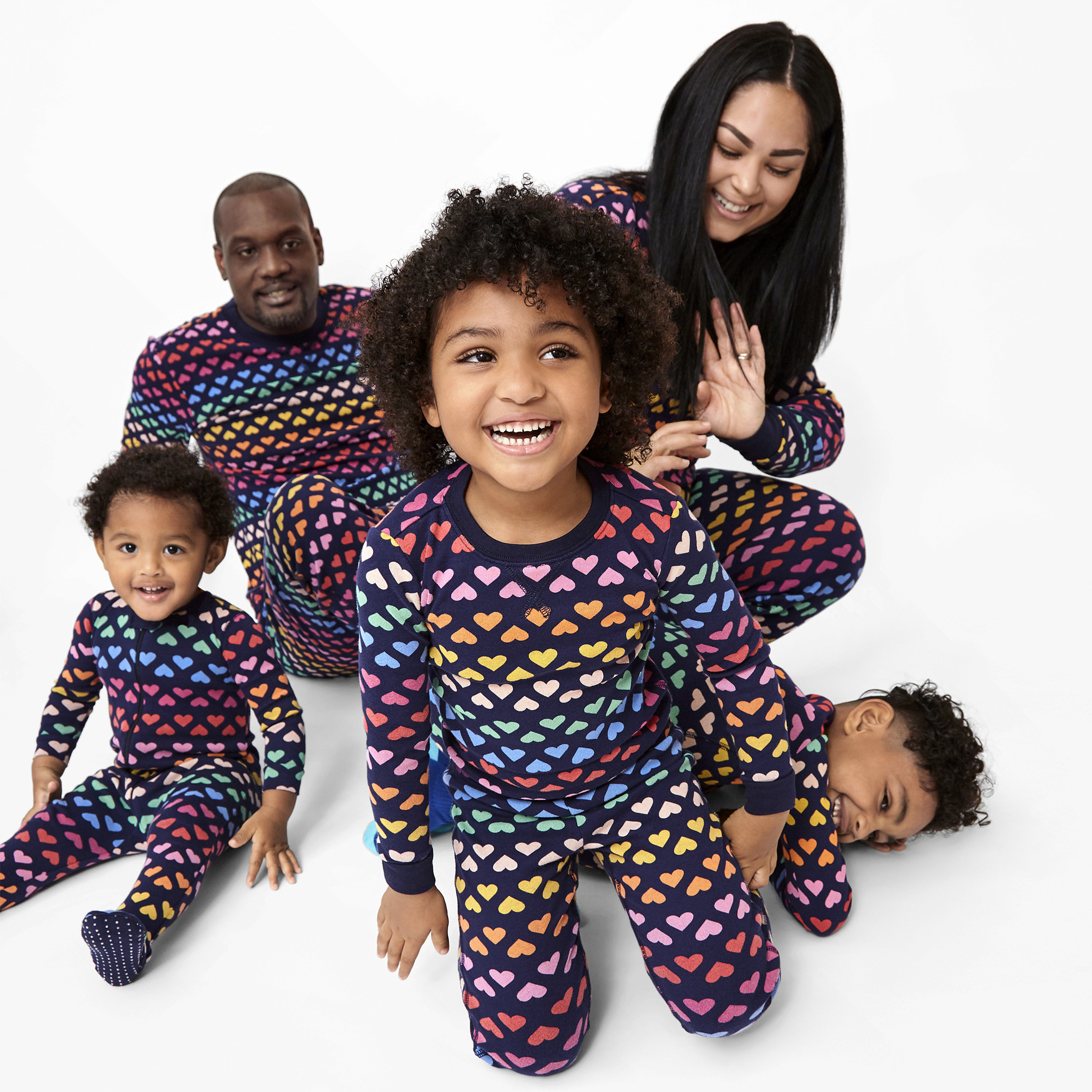 Primary Organic Kids Sunburst Heart PJs
