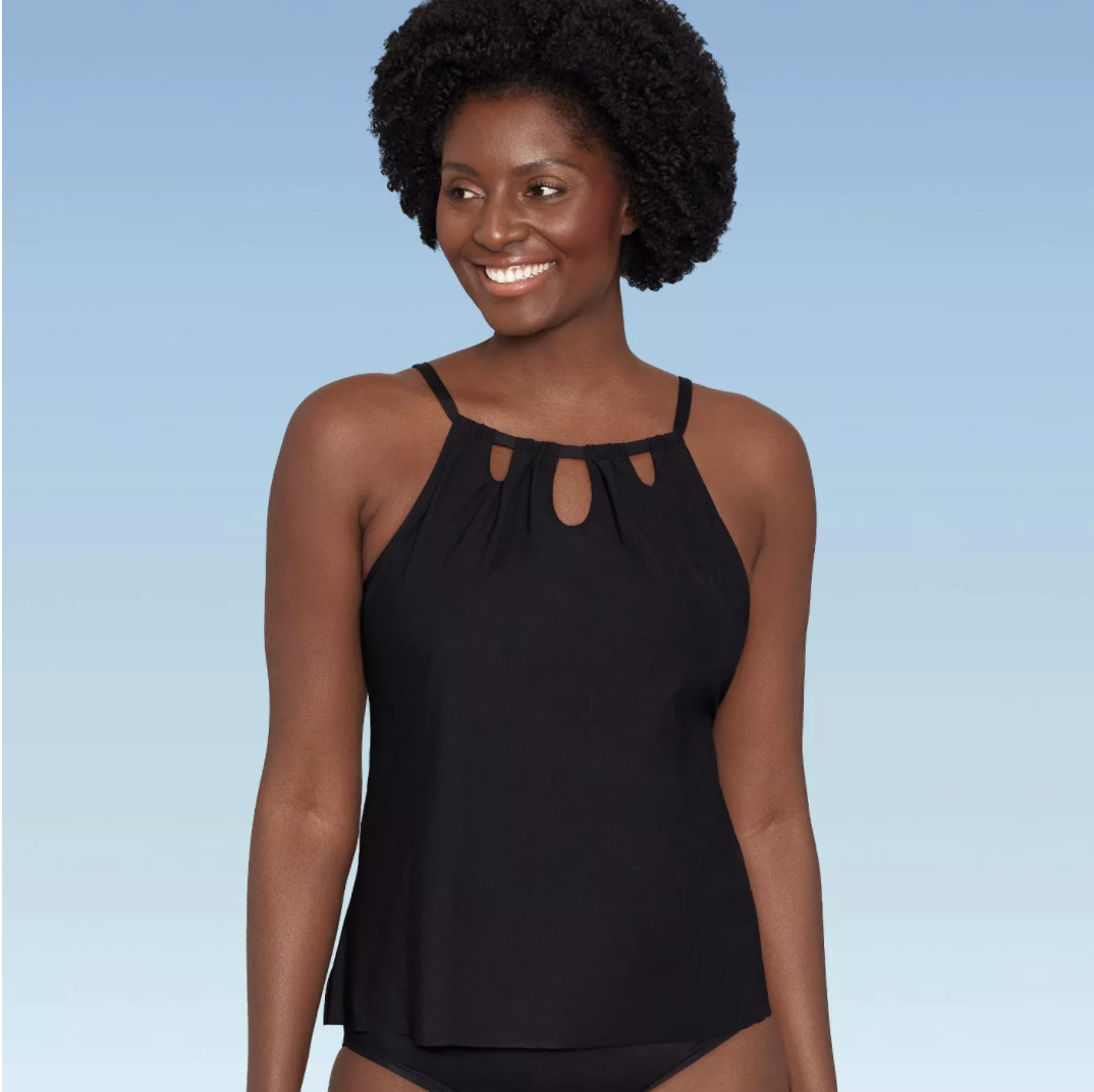 Dreamsuit Slimming Control High Neck Cut Out Tankini Top