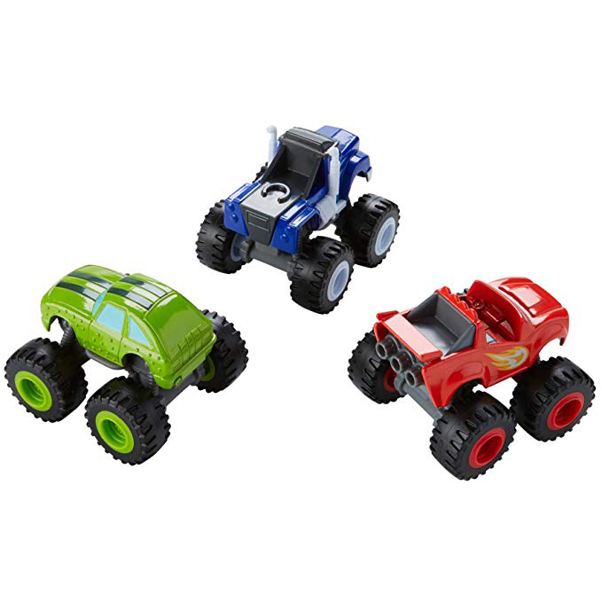 3 Blaze & the Monster Machines Die-Cast Trucks