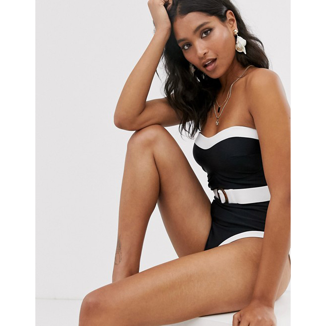 Pour Moi Belted Control Swimsuit