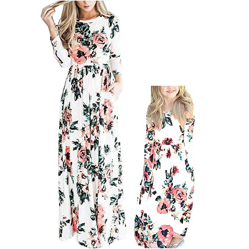 Qin.Orianna Mommy and Me Maxi Dresses
