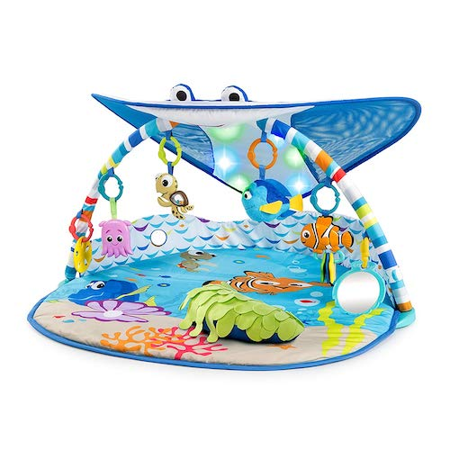 Bright Starts Disney Baby Finding Nemo Mr. Ray Ocean and Lights Gym