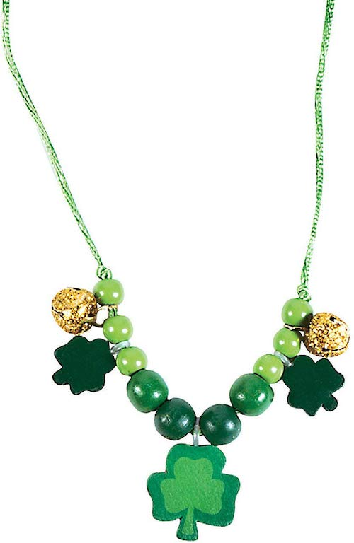 Fun Express Beaded St. Patrick's Day Necklace Craft Kit