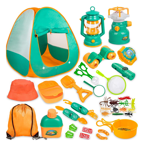 Meland Kids 24-Piece Camping Set with Tent