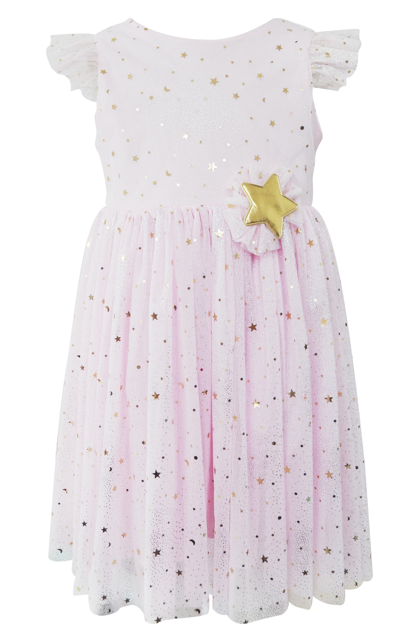 Popatu Metallic Moon Star Tulle Dress