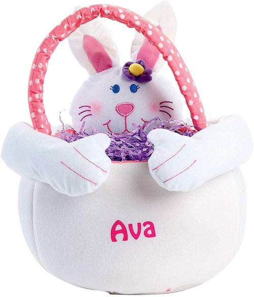 Lillian Vernon Personalized Plush Girl Easter Bunny Tote