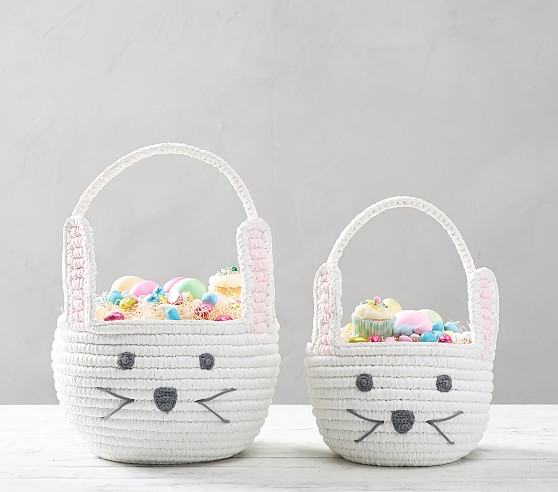Pottery Barn Kids Woven Shaped Bunny Easter Basket