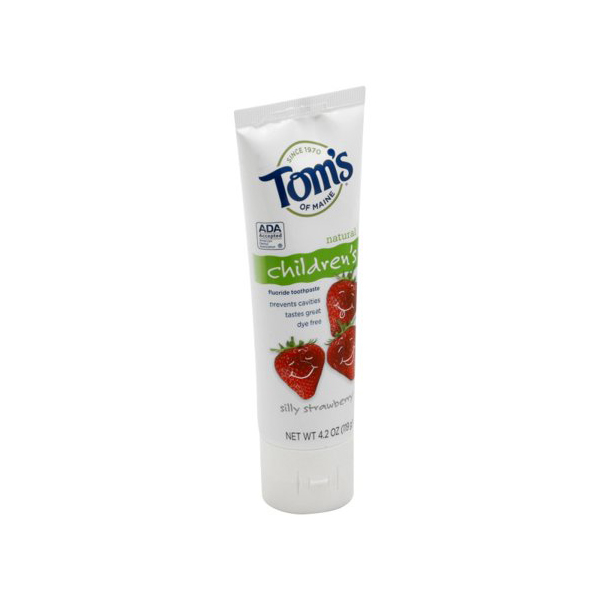 Tom's of Maine Children's Natural Fluoride Toothpaste Silly Strawberry
