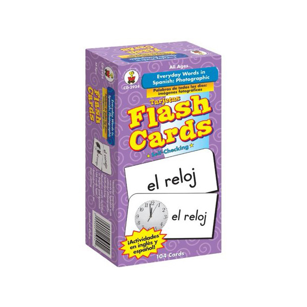 Everyday Words in Spanish Flash Cards Flash Cards