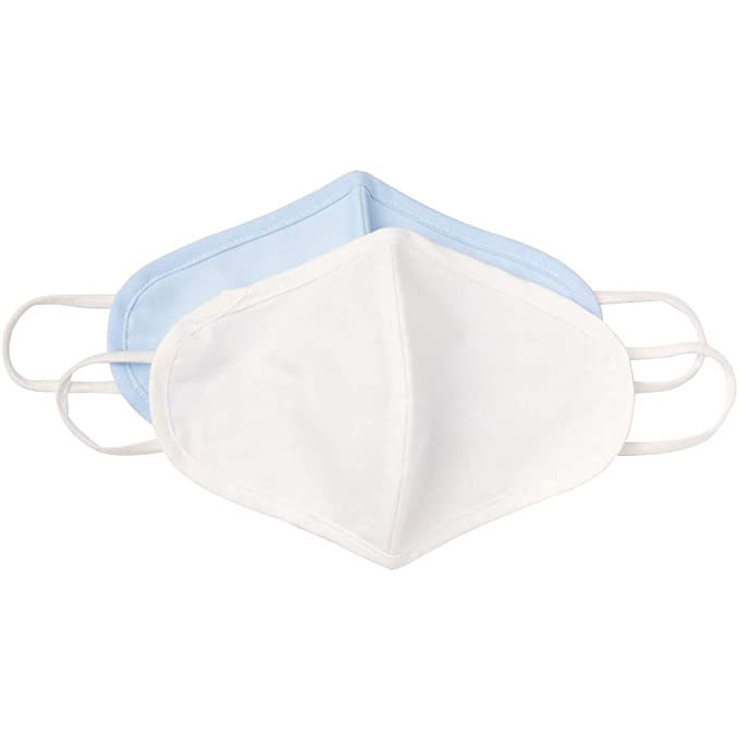 LiteBee Cotton Mask with Breath Valves, 3-Pack