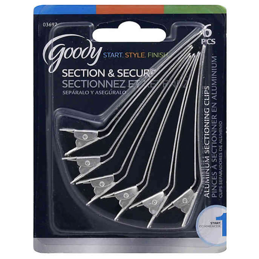 Goody 6-Count Section Clips in Aluminum