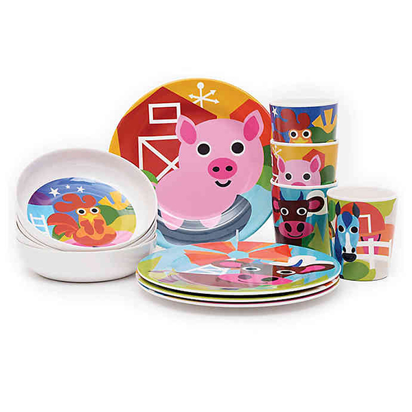 French Bull Farm Kids Dinnerware Collection