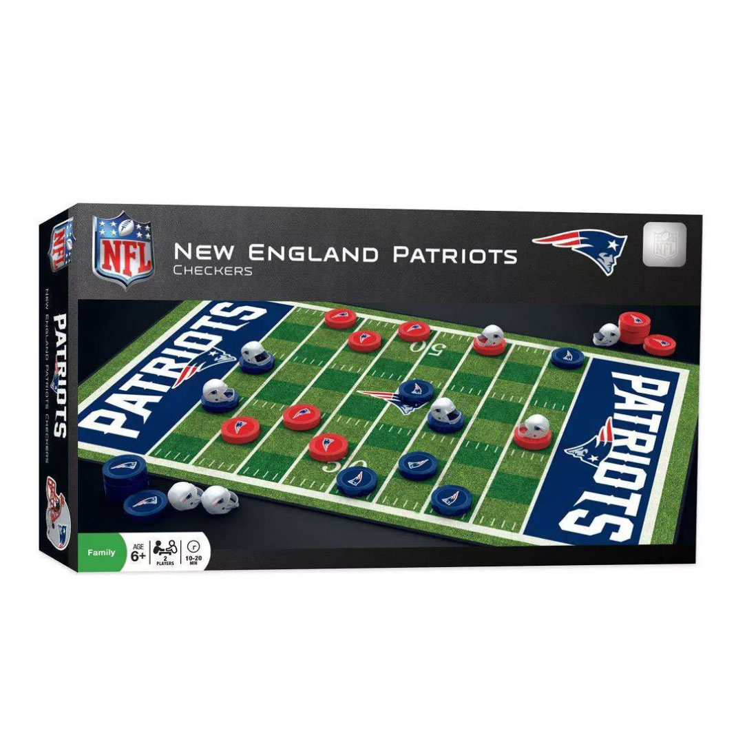 NFL New England Patriots Checkers Board Game