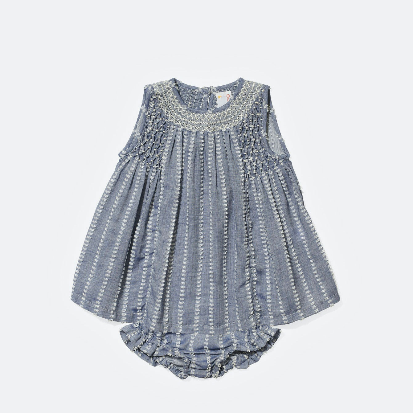 Oso & Me Nora Embroidered Baby Dress