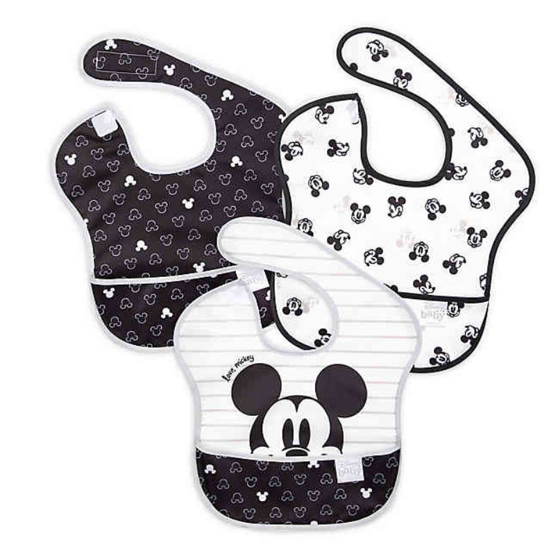 Bumkins Disney Mickey Mouse 3-Pack SuperBibs