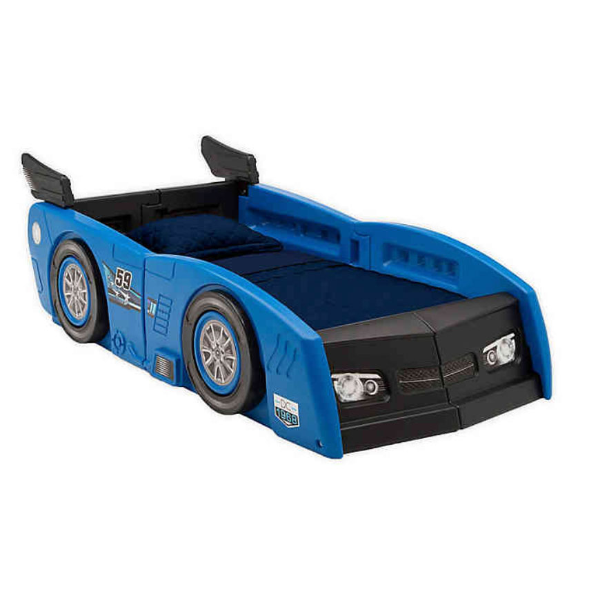 Delta Children Grand Prix Race Car Toddler-to-Twin Bed