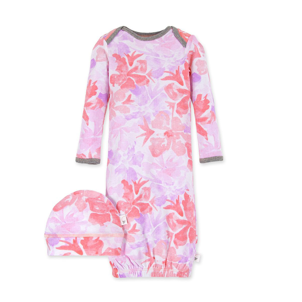 Market Miracles Organic Baby Gown & Cap Set