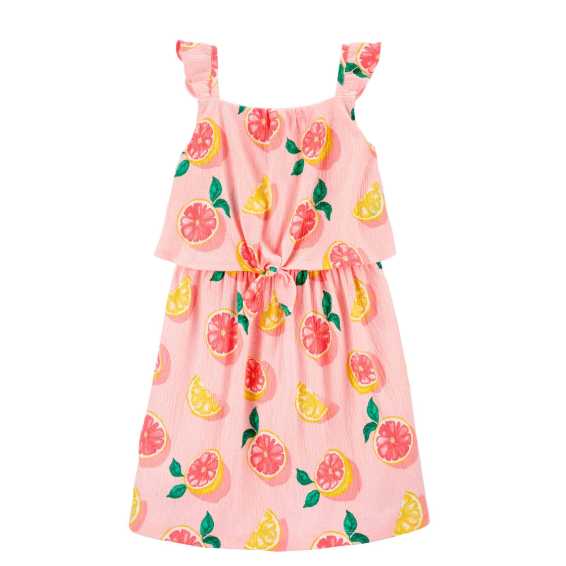 Grapefruit Crinkle Jersey Dress