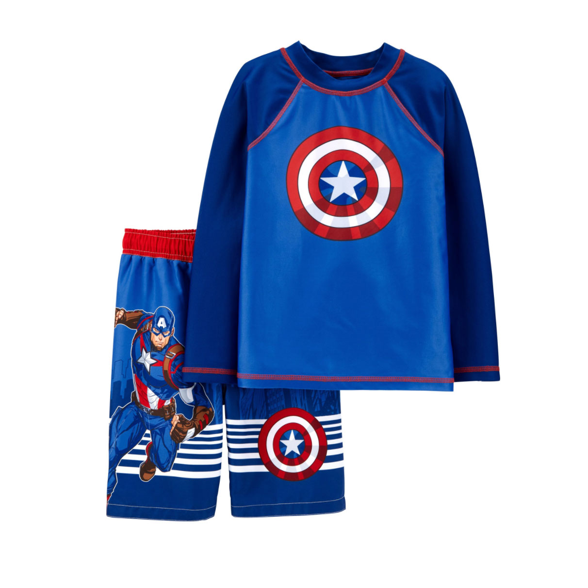 Carter's Captain America Rashguard Set