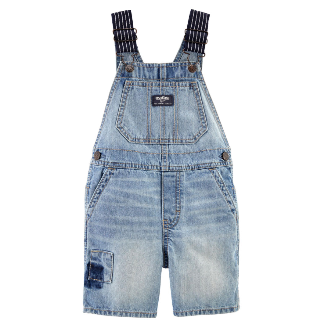 Patch Denim Shortalls