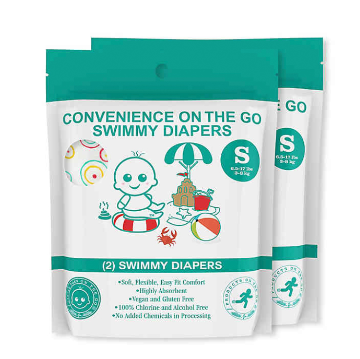 Convenience on the Go 2-Pack Swimmy Diapers