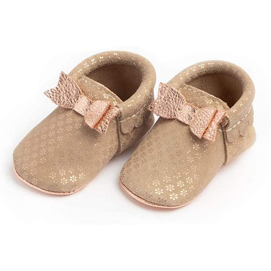 Freshly Picked - Soft Sole Leather Bow Moccasins