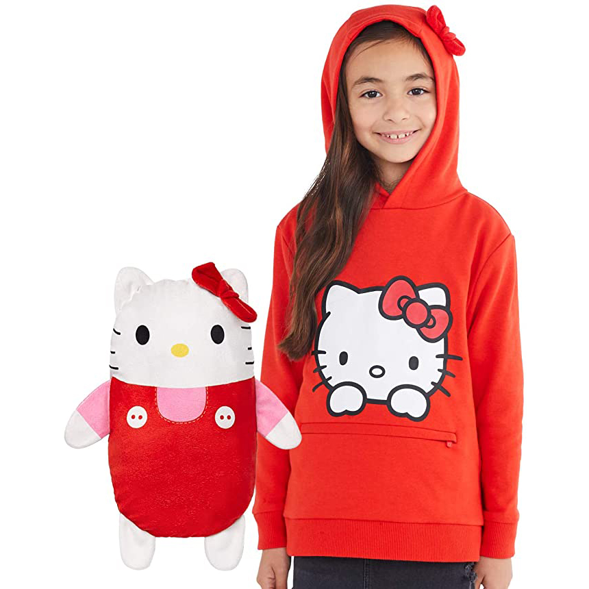 Cubcoats Hello Kitty 2-in-1 Transforming Pullover Hoodie & Soft Plushie