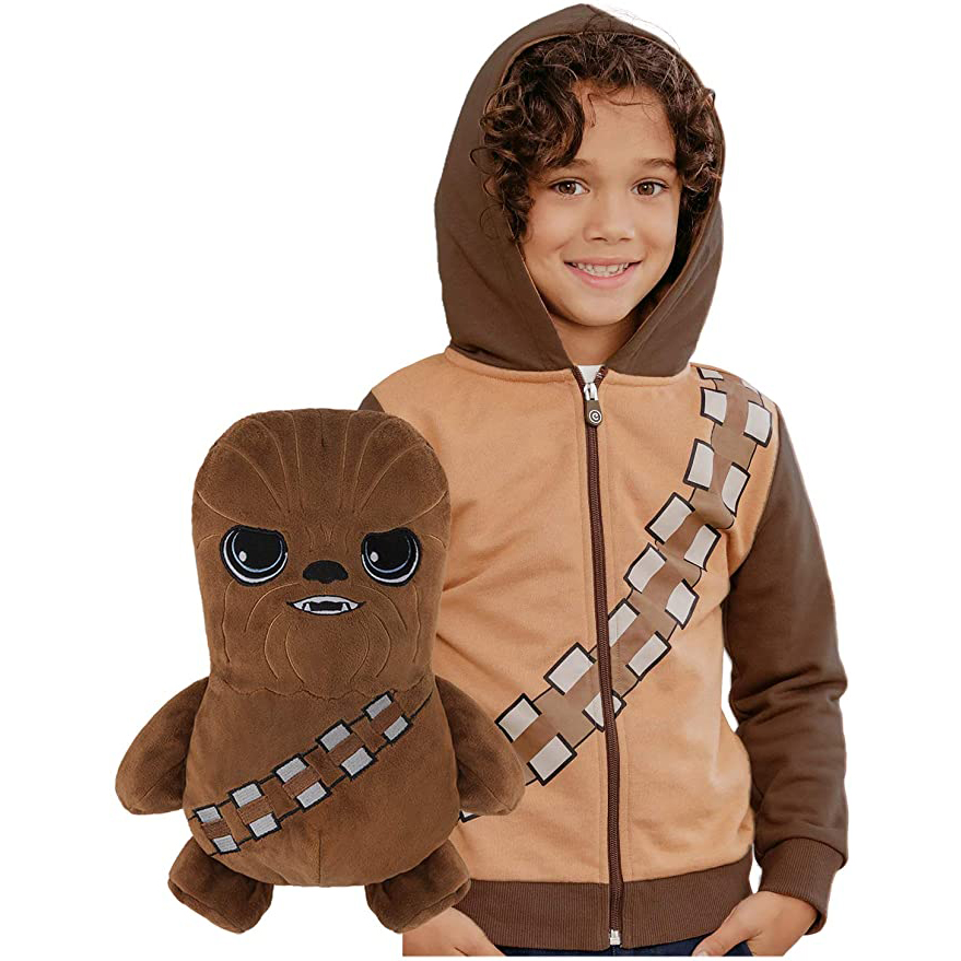 Cubcoats Star Wars Chewbacca Transforming 2-in-1 Classic Zip-Up Hoodie & Plushie