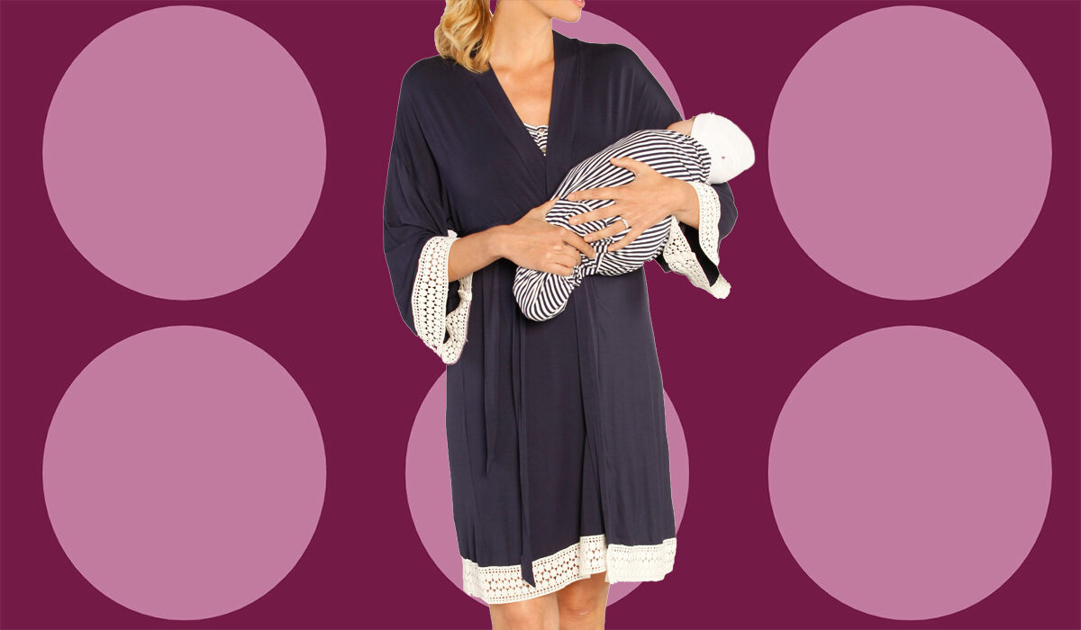 Nordstrom Shoppers Love How 'Put Together' They Feel in This Maternity Nightgown and Robe Set