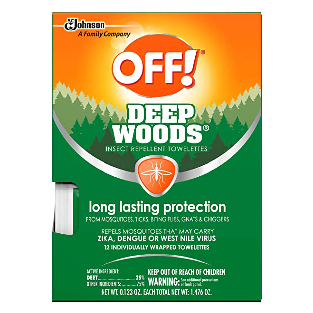Off! Deep Woods Off!Insect Repellent Towelettes