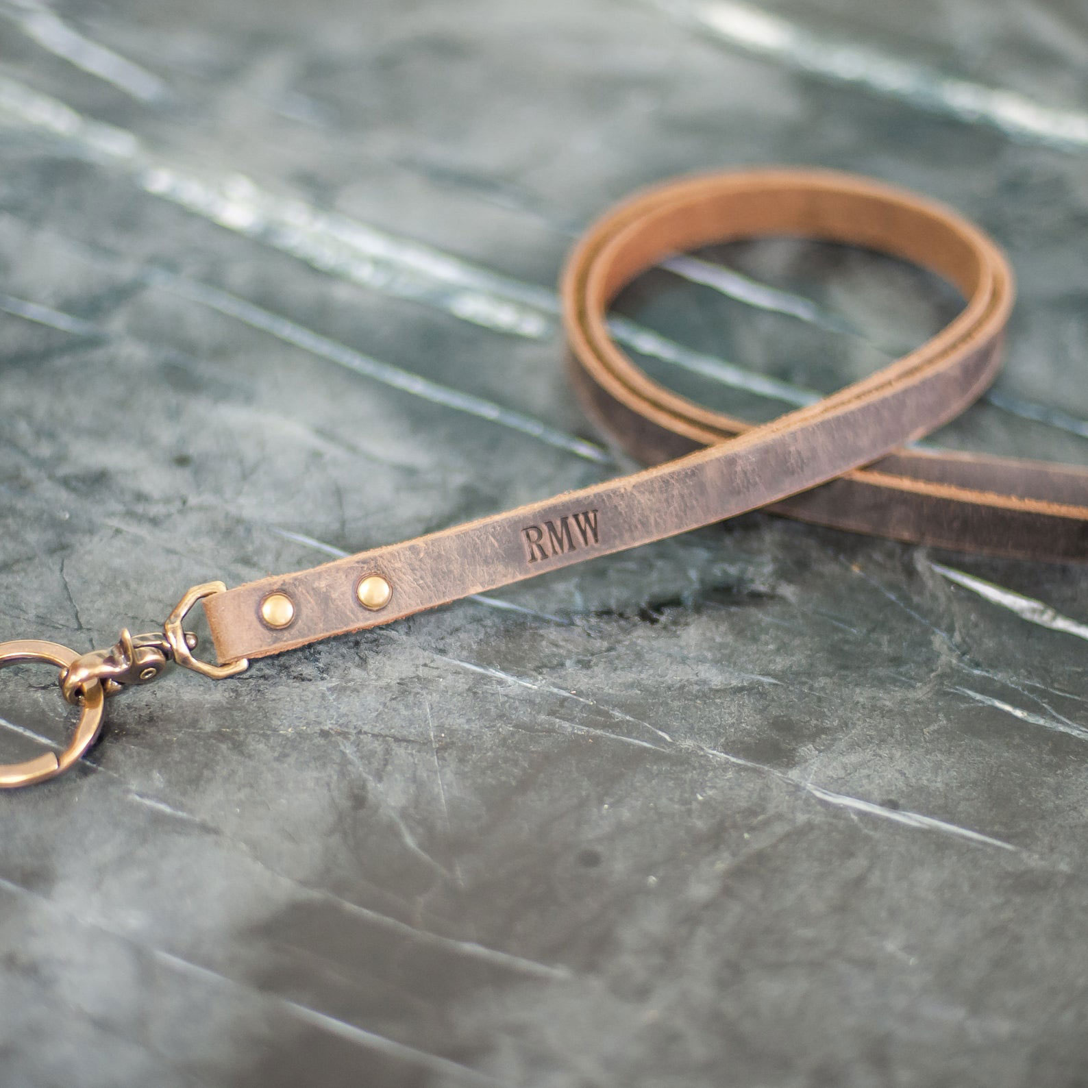 Personalized Leather Face Mask Lanyard