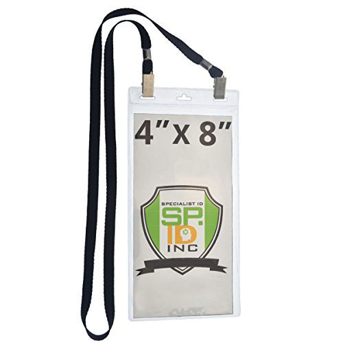 5 Pack Extra Large Badge Holders