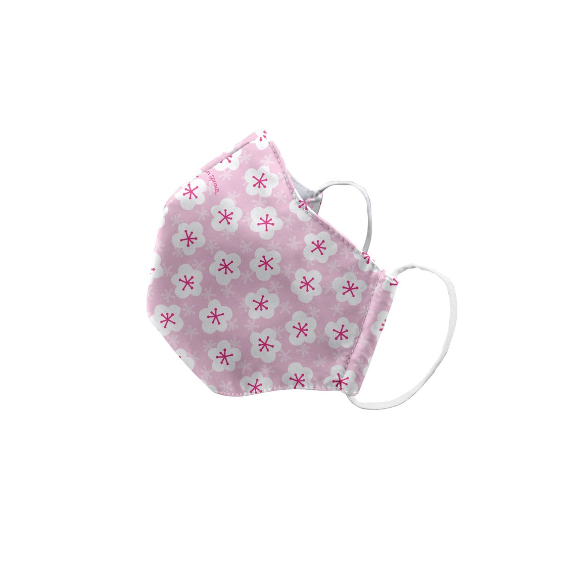 Green Sprouts Child Reusable Face Mask - Pink Blossoms