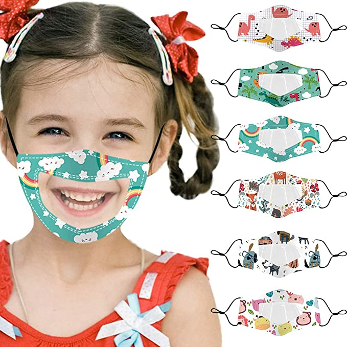 Gerichy 6-Pack Clear Window Face Masks