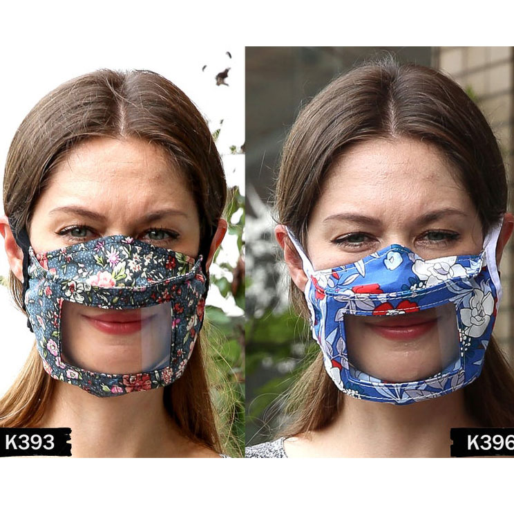Cotton Lip Reading Anti-Fog Transparent Clear Window Smile Mask