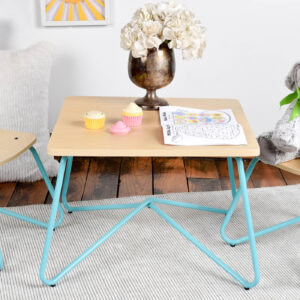This Multi-Use Kids Table and Stool Set Is Perfect for Playing, Drawing, and Eating